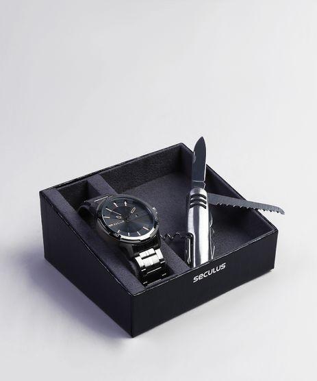 Kit-de-Relogio-Analogico-Seculus-Masculino---Canivete---20746GPSVSA2K-Grafite-9399762-Grafite_1