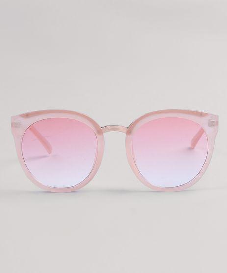 Óculos de Sol Redondo Feminino Oneself Rosê - cea 7efa5639bd