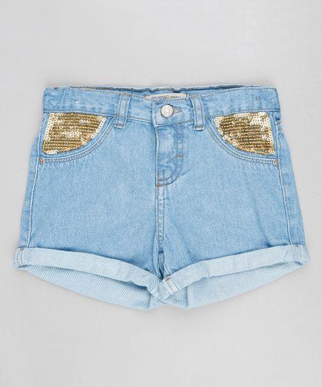 Short-Jeans-Infantil-com-Paetes-e-Barra-Dobrada-Azul-Claro-9358537-Azul_Claro_1