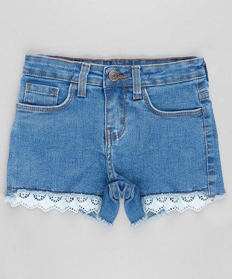 Short-Jeans-Infantil-com-Renda-na-Barra-Azul-Medio-9316641-Azul_Medio_1