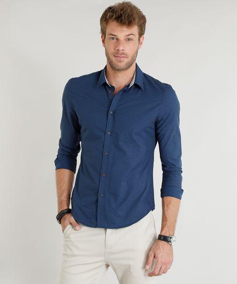 Camisa-Masculina-Slim-Estampada-Mini-Print-de-Poas-Manga-Longa-Azul-Marinho-9253848-Azul_Marinho_1