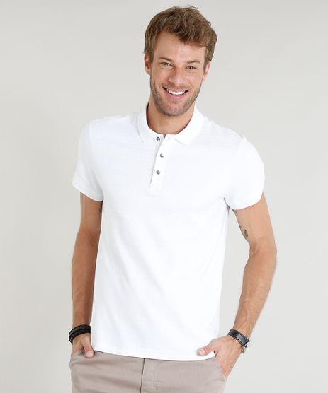 Polo-Masculina-Slim-Fit-Texturizada-Manga-Curta-Branca-9326298-Branco_1