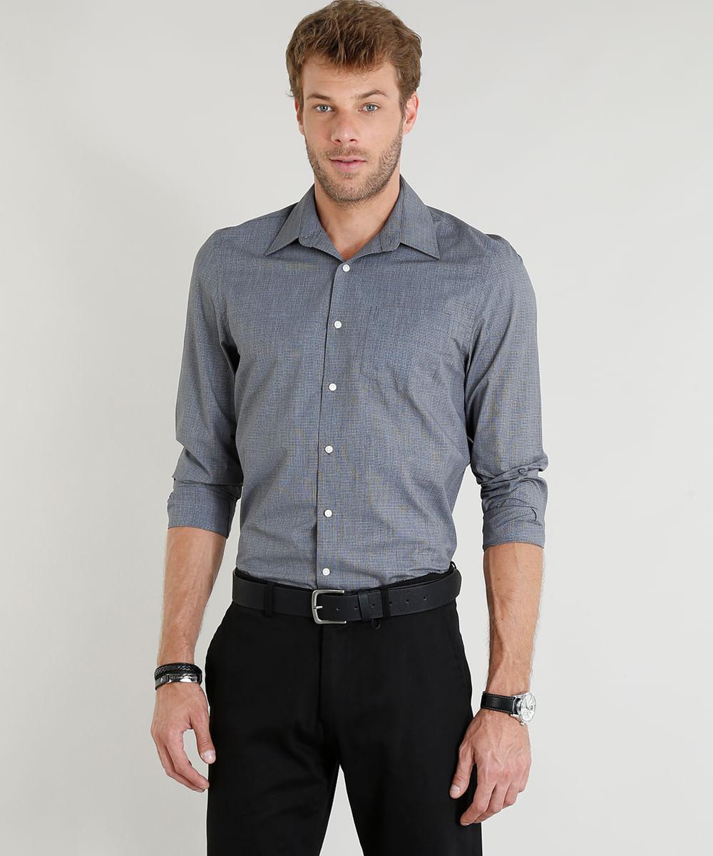 5bb576760 ... Camisa-Masculina-Comfort-Manga-Longa-Chumbo-9246942-Chumbo 1