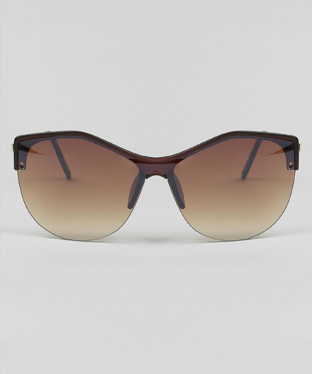 Óculos de Sol Gatinho Feminino Oneself Marrom Escuro - cea 86658291a4