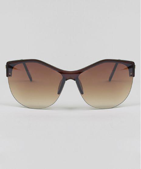 f0a95bde47b56 Oculos-de-Sol-Gatinho-Feminino-Oneself-Marrom-Escuro-