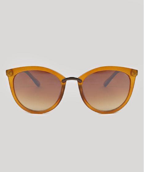 5fd2fa766 Óculos de Sol Gatinho Feminino Oneself Marrom Claro - cea