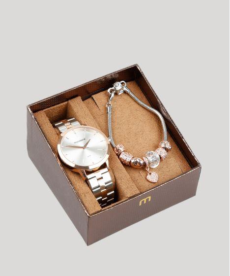 8acf96056 Kit-de-Relogio-Analogico-Mondaine-Feminino---Pulseira- ...