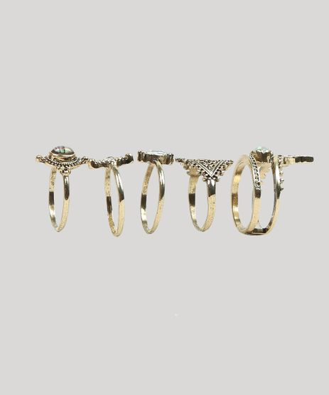 Kit-de-5-Aneis-Femininos-Dourado-9261937-Dourado_1