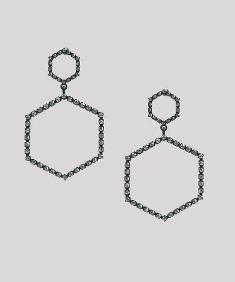Brinco-Feminino-Longo-Geometrico-com-Strass-Preto-9276462-Preto_1