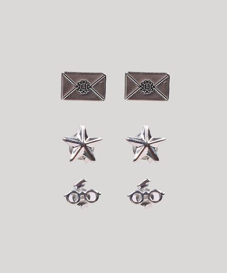 Kit-de-3-Brincos-Harry-Potter-Prateado-9289418-Prateado_1