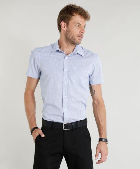 Camisa-Masculina-Comfort-Xadrez-Manga-Curta-Azul-Claro-9249072-Azul_Claro_1