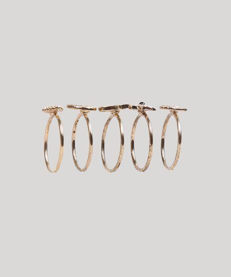 Kit-de-5-Aneis-Femininos-com-Pingentes-da-Sorte-Dourado-9266343-Dourado_1