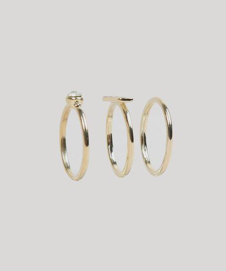 Kit-de-3-Aneis-Femininos-com-Strass-Dourado-9289378-Dourado_1