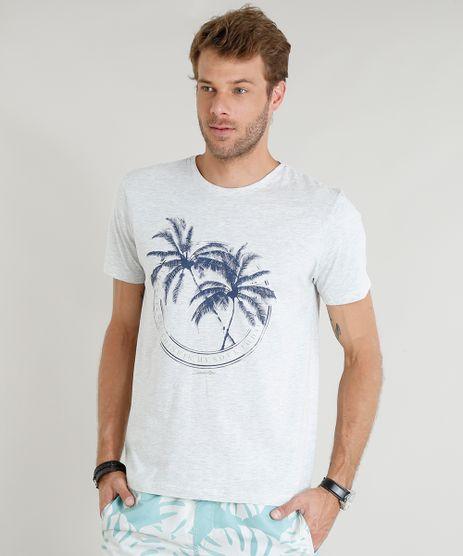 Camiseta-Masculina-com-Estampa-de-Coqueiro-Manga-Curta-Gola-Careca-Cinza-Mescla-Claro-9374284-Cinza_Mescla_Claro_1