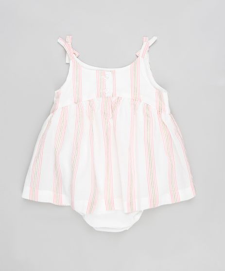 Body-Blusa-Infantil-Listrado-com-Lurex-e-Laco-Sem-Manga-Branco-9199161-Branco_1