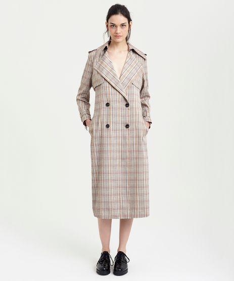 Casaco-Trench-Coat-Feminino-Mindset-Xadrez-Bege-9385649-Bege_1
