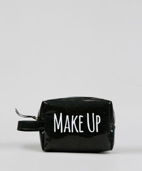 Necessaire-Feminina-com-Glitter--Make-Up--Preta-9376713-Preto_1