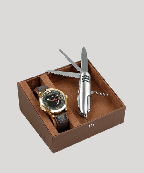 Kit-de-Relogio-Analogico-Mondaine-Masculino---Canivete---76710GPMVDH2K-Dourado-9401895-Dourado_1