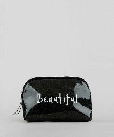 Necessaire-Feminina-com-Glitter--Beautiful--Preta-9376717-Preto_1