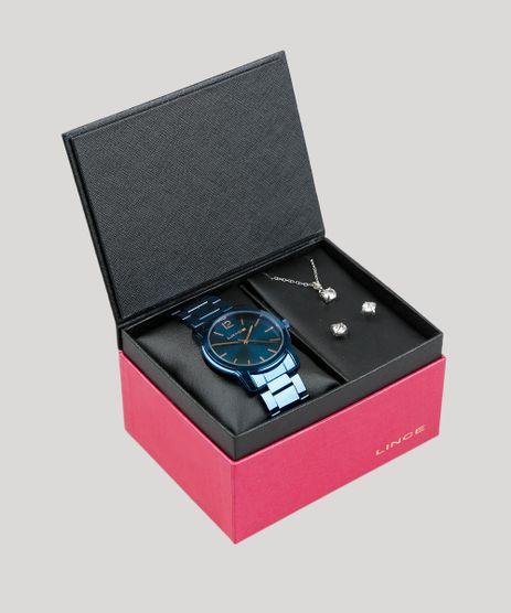 Kit-de-Relogio-Analogico-Lince-Feminino---Colar---Brinco---LRA4449L-KD60D2DX-Azul-9400706-Azul_1