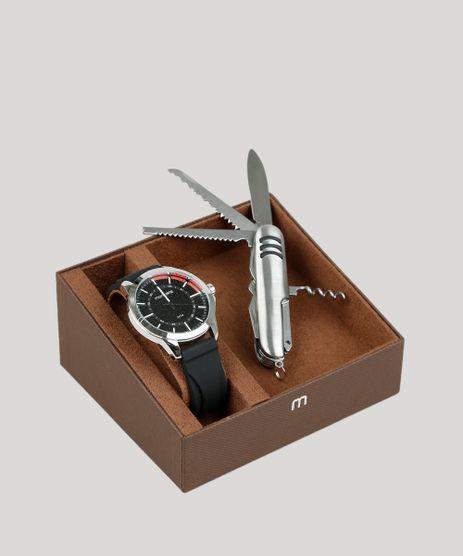 Kit-de-Relogio-Analogico-Mondaine-Masculino---Canivete---99343G0MVNI1K-Preto-9398484-Preto_1