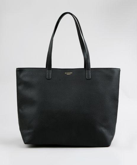 Bolsa-Shopper-Feminina-com-Alcas-Fixas-Preta-9250984- f5f963b126