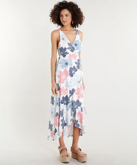 Vestido-Feminino-Midi-Envelope-Estampado-Floral-Decote-V-Bege-Claro-9355195-Bege_Claro_1