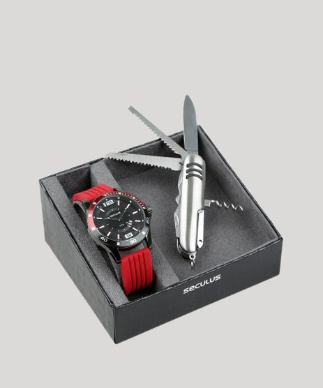 Kit-de-Relogio-Analogico-Seculus-Masculino---Canivete---28932GPSVPI2K-Grafite-9399547-Grafite_1