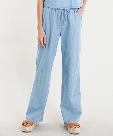 Calca-Pantalona-Jeans-Feminina-com-Amarracao-Azul-Claro-9372337-Azul_Claro_1
