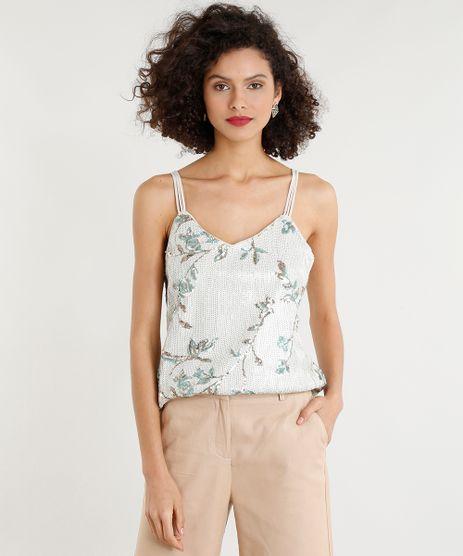 Regata-Feminina-com-Paetes-Floral-Alcas-Finas-Decote-V-Bege-9260866-Bege_1