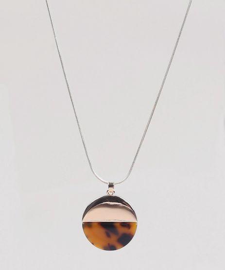 Colar-Longo-Feminino-com-Pingente-Animal-Print-Dourado-8428877-Dourado_1_1