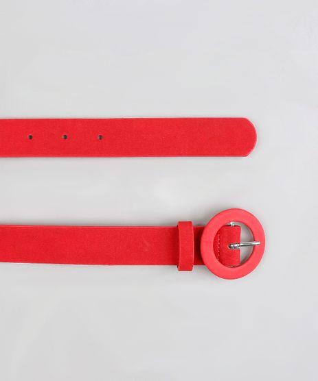 Cinto-Feminino-com-Fivela-Redonda-Vermelho-9255445-Vermelho_1