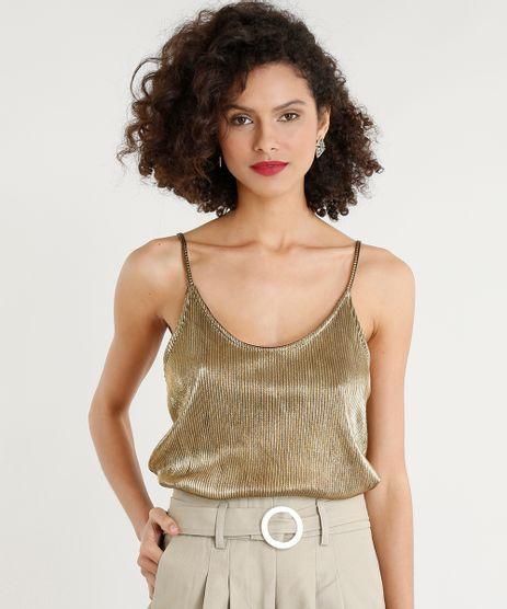 Regata-Feminina-Plissada-Metalizada-Alcas-Finas-Decote-Redondo-Dourada-9411484-Dourado_1