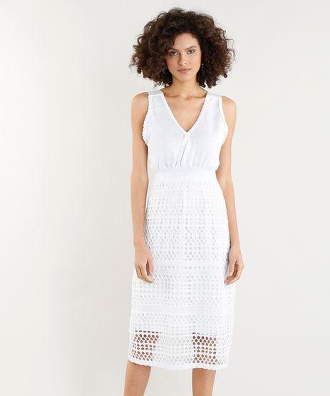 Vestido-Feminino-Midi-em-Trico-com-Lurex-Decote-V-Off-White-9357541-Off_White_1