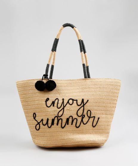 Bolsa-Shopper-Feminina-de-Palha--Enjoy-Summer--com-Pompom-Bege-9197899-Bege_1