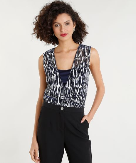 Body-Feminino-Bluse-com-Sobreposicao-Estampado-Decote-V-Azul-Marinho-9260771-Azul_Marinho_1