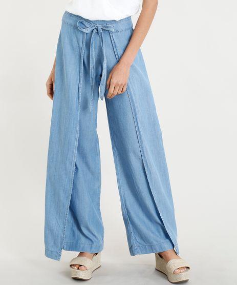 Calca-Envelope-Pantalona-Jeans-Feminina-com-Amarracao-Azul-Claro-9375395-Azul_Claro_1