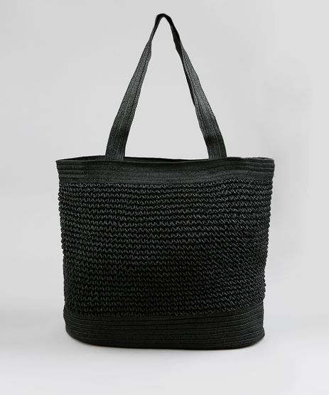 Bolsa-Shopper-Feminina-de-Palha-Preta-9197905-Preto_1