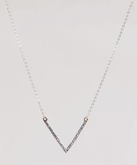Colar-Feminino-com-Pingente-Triangular-com-Strass-Dourado-9292833-Dourado_1