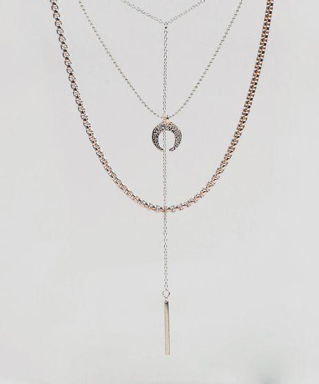 Colar-Feminino-Triplo-com-Pingentes-Dourado-9281042-Dourado_1