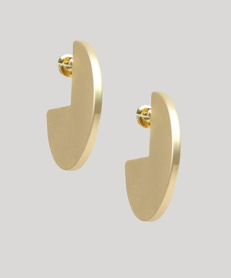 Brinco-Feminino-Geometrico-Fosco-Dourado-9266324-Dourado_1