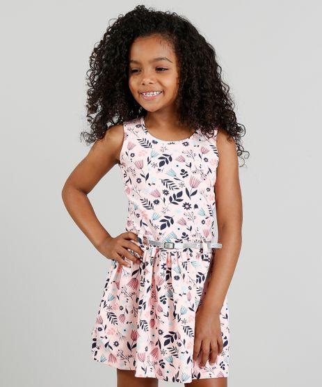 Vestido-Infantil-Estampado-Floral-com-Cinto-Metalizado-Rosa-9341709-Rosa_1