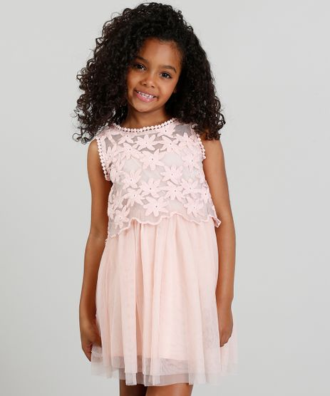 Vestido-Infantil-em-Tule-com-Bordado-Floral-Rosa-9182789-Rosa_1