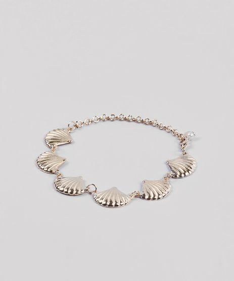 Pulseira-Feminina-com-Pingente-de-Conchas-Dourado-9292845-Dourado_1