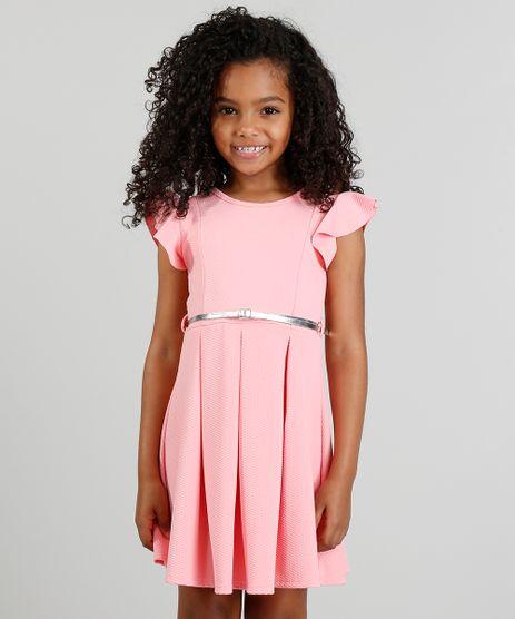 Vestido-Infantil-em-Jacquard-com-Cinto-Metalizado-Rosa-9337303-Rosa_1