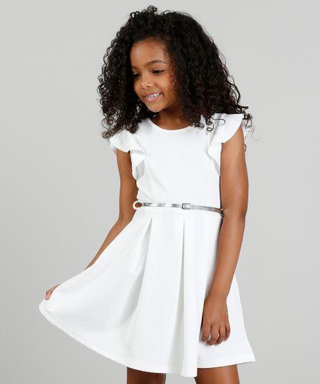 Vestido-Infantil-em-Jacquard-com-Cinto-Metalizado-Off-White-9337302-Off_White_1