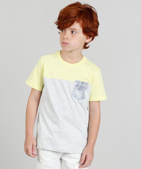 Camiseta-Infantil-com-Bolso-Estampado-Manga-Curta-Cinza-Mescla-Claro-9361238-Cinza_Mescla_Claro_1