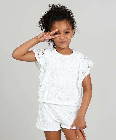 Conjunto-Infantil-de-Blusa---Short-em-Renda-Floral-Branco-9324057-Branco_1
