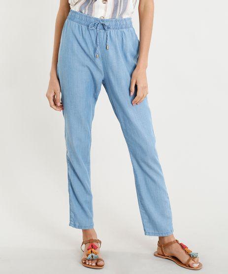 Calca-Jeans-Feminina-Jogger-com-Cordao-Azul-Claro-9375386-Azul_Claro_1