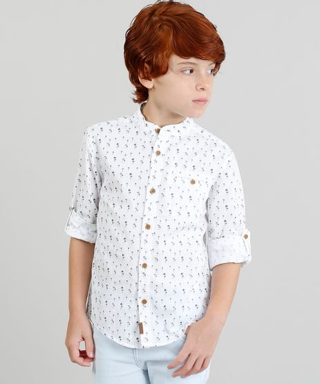 Camisa-Infantil-Estampada--Coqueiros--Manga-Longa-Gola-Padre-Branca-9187091-Branco_1